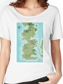 Topographic Map of Westeros Women's Relaxed Fit T-Shirt