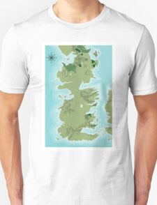 Topographic Map of Westeros T-Shirt