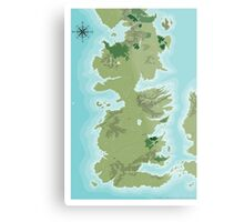 Topographic Map of Westeros Metal Print