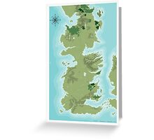Topographic Map of Westeros Greeting Card