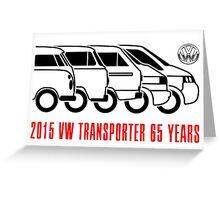 VW Transporter - 'T-volution' Greeting Card