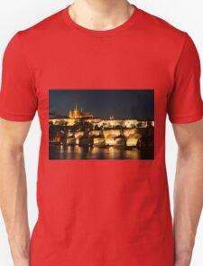 Prague at night. Unisex T-Shirt
