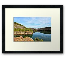 Carter's Lake, Chatsworth, Georgia, USA Framed Print