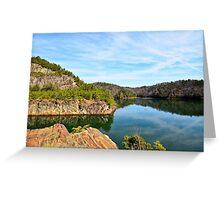 Carter's Lake, Chatsworth, Georgia, USA Greeting Card