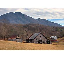 Blue Ridge Mountain Farm Photographic Print