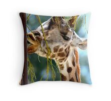 Giraffe V Throw Pillow