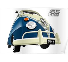 VW Transporter blue - 65th anniversary Poster