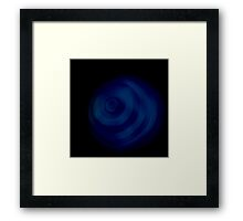 Blue sphere Framed Print