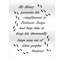 Marauders Map Mr Moony Poster