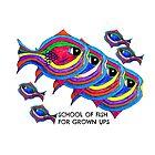 School of fish for grown ups by JoAnnFineArt
