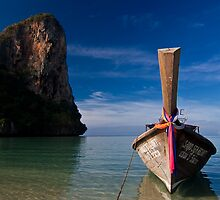 Longtail Boat at Railay Beach by morealtitude