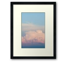 Orange Cloudscape Vertical Framed Print