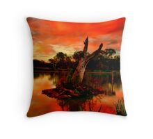 """Sundown at Balyang"" Throw Pillow"