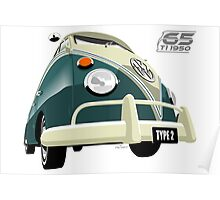 VW Transporter green - 65th anniversary Poster