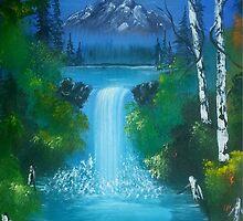 Blue Waterfalls by Collin A. Clarke