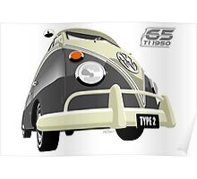 VW Transporter grey - 65th anniversary Poster