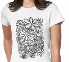 paisley flowers  Womens Fitted T-Shirt