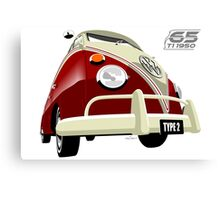 VW Transporter red - 65th anniversary Canvas Print