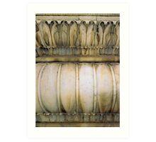 carved pillar Art Print
