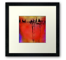 97 - Tree Music and Elevated Tree Forms Framed Print