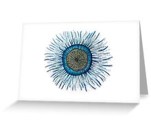 Blue Button Jellyfish Greeting Card
