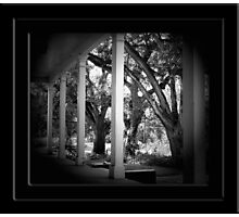 Front Porch of Plantation Home Photographic Print