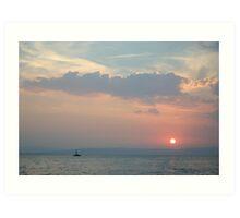 Sunset in the Adriatic Art Print