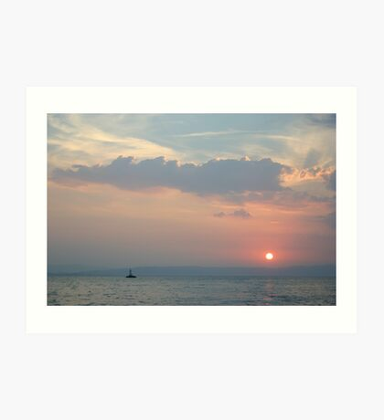 Sunset in the Adriatic Art Print