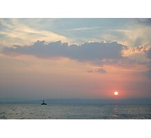 Sunset in the Adriatic Photographic Print