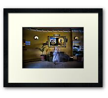 ...and the room held its breath as she whispered into the scene. Framed Print