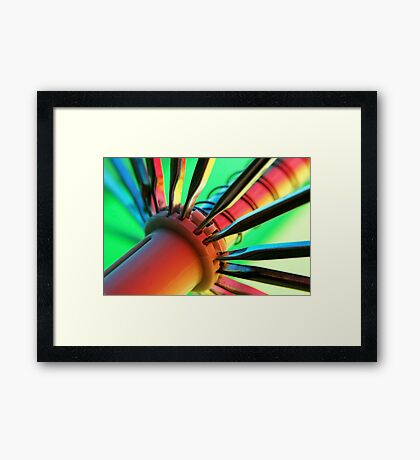 Coloured glow Framed Print
