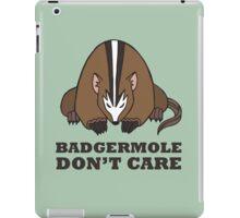 Badgermole Don't Care iPad Case/Skin