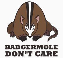 Badgermole Don't Care Kids Tee