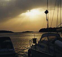 stormy sunset mljet 2 by dobayferenc