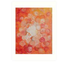 Orange Blooms Art Print