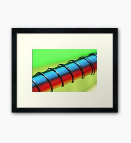 Coloured steel Framed Print