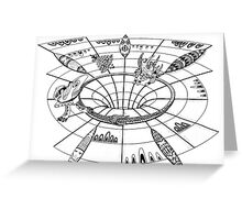 Down and out the wormhole Greeting Card