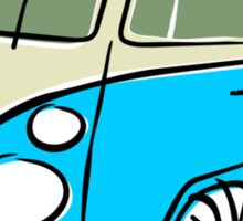 VW Type 2 bus blue Sticker