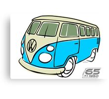 VW Type 2 bus blue Canvas Print