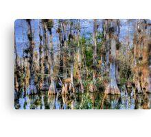 Cypress Garden Canvas Print