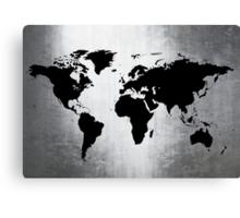 World Map Metal Canvas Print