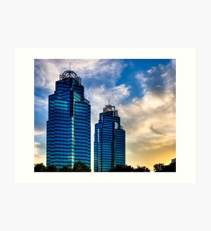 Checkmate - King and Queen Towers in Atlanta Art Print