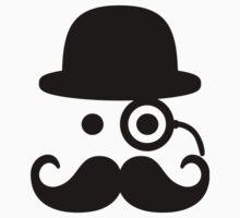 Smiley Mustache monocle Kids Clothes