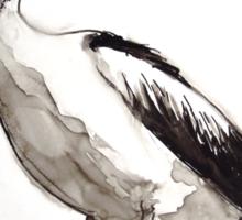 Pelican study on yupo Sticker