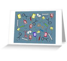 Nurse Tools Art Greeting Card