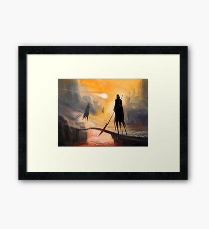 Lava Wraiths Framed Print