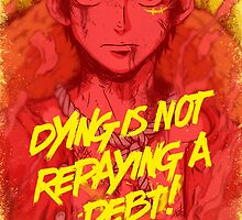 One Piece - Luffy with quote by Sven from OZ