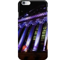 Purple New York Stock Exchange at Night - Impressions Of Manhattan iPhone Case/Skin