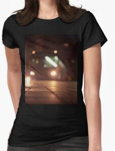 Urban landscape and bus at night Hasselblad analog medium format c41 film photo Womens Fitted T-Shirt