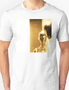 Futuristic Martian shop dummy mannequins 35mm silver gelatin sepia film photo T-Shirt